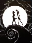 Nightmare before christmas painting by Corpse-boy