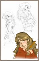 Hermione sketches by relashio