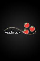 Applejack Glow Line iPhone/iPod Wallpaper by AlphaMuppet