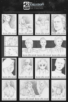 Topps Star Wars 40th Anniversary: Sketch Cards by KaelaCroftArt