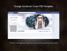 Free Grunge Facebook Cover PSD Template by xara24