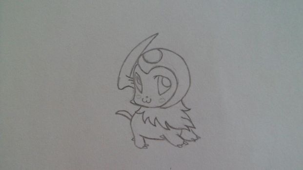 chibi absol by BleedingDarkRose