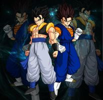 Vegetto y Gogeta by theothersmen