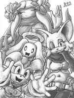 Sonic Boom Group Sketch - The What-ifs (so far) by Blue-Paint-Sea