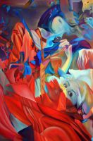 Within my heart a flame of desires, 120-80cm, 2016 by oanaunciuleanu