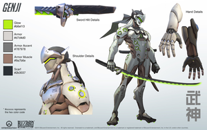 Genji - Overwatch - Close look at model by PlanK-69