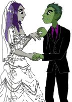The Wedding for BlueRaini by physicsgoddess