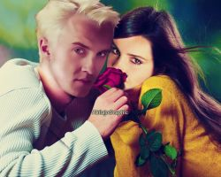 Tom Felton and Emma Watson by AkilajoGraphic