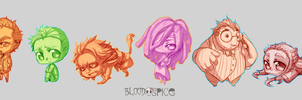Council Chibi Sketches by BloodnSpice