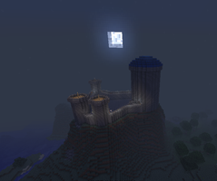 moonrise over nameless citadel by warp2002