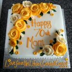 Yellow Roses Cake by clvmoore