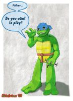 Turtle Tot Leo 3 by TheDyeIsCast