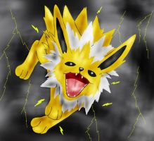 Jolteon used Thunder Fang by WinterIceFox