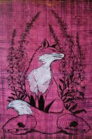 Foxes and Foxglove by zashear