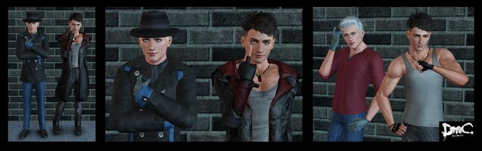 The Sims 3: DmC Dante and Vergil by Tx-Slade-xT
