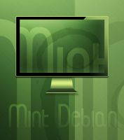Mint Debian Wallpaper by Pierre-Lagarde