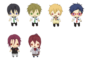 Free! Minis by queen-of-rainbows