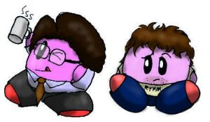The IT Crowd Kirbies by littlemisskirby