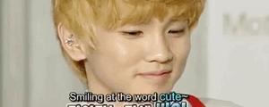 Key smiling at the word cute by Ko-min-jk