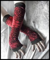 Blood Struck Arm Warmers by ZenAndCoffee