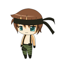 Chibi commission: Solid Snake by Dimitra25