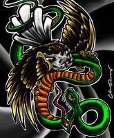 Eagle V Snake by chrisxart