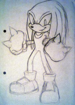 Knuckles_Sketch by Sky-The-Echidna
