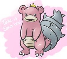 Day 14 - Slowbro - Pyschic by Jhordee