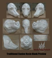 Traditional Canine Resin Blank Preview by MissRaptor