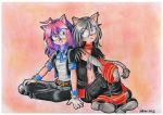 AT : Pauli and Nicke the hedgehogs by Val-Krayon