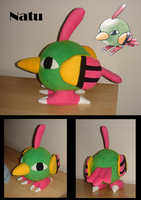 Natu plushie by Eyes5