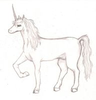 Unicorn Sketch by samuraXIV