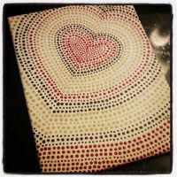 Dot Heart Canvas for Hillary by strryeyedreamr27