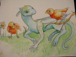 Culture fest doodle 1: dragons and birds by NireLeetsac