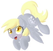 Floating Derpy by Pon3Splash