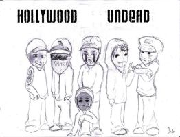 hollywood undead by missblackfingernail