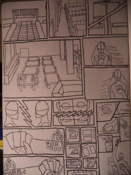 Practice-Story Board/Comic Panel by Many9919