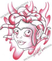 Tentacle Medusa by Lucky-Cat-Tattoo