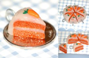 Mini Carrot Cake Charm by sweetcivic