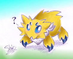 Shiro the Joltik by FutureDiarist