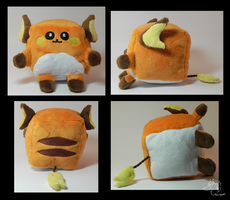 Raichu Cube Plush by racingwolf