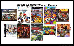 My top ten favorite video games by SKULLuigi