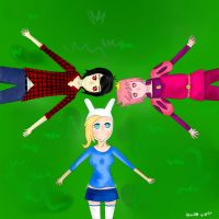 Marshall, Fionna, Gumbal by MiracleLady