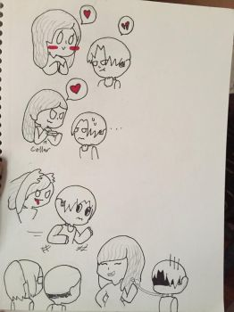 I drew a comic of me and Levi... by Punk-princess109