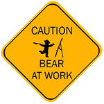 Caution bear at work by Hagge