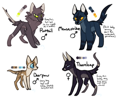 CLOSED 70pt Warrior-Cats-Rise Adopts by ThisAccountIsDead462