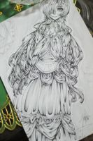 Line Art work of The Dark Witch by himizawa