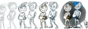 PewDiePie/Cry - Portal 2 - Concept Art by ScribbleNetty