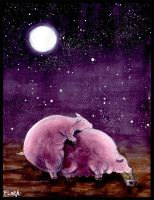 Romantic Pigs by frowzivitch