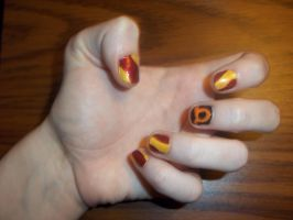 Tavros Nitram Nails by ElectricBlueTempest